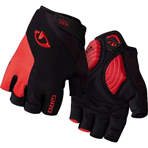 Giro Unisex- Erwachsene STRADE DURE SUPERGEL Fahrradhandschuhe, Black/Bright red, M (Bike-handschuhe Giro)