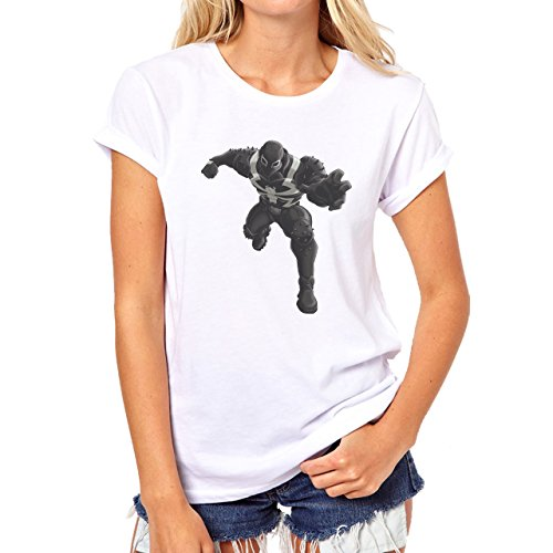 Spiderman Peter Parker Super Heroe Venom Running Damen T-Shirt Weiß