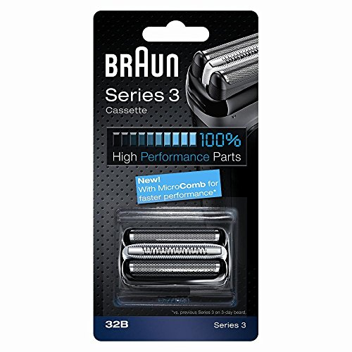 Price comparison product image Braun Series 3 Electric Shaver Replacement Foil Cartridge, 32B - Black