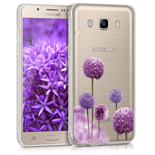 kwmobile Samsung Galaxy J5 (2016) DUOS Hülle - Handyhülle für Samsung Galaxy J5 (2016) DUOS - Handy Case in Pink Violett Transparent