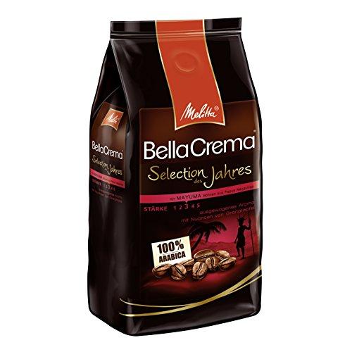 Melitta Ganze Kaffeebohnen, 100 % Arabica, fein-fruchtige Nuancen von Granatapfel, mittlerer Röstgrad, Stärke 3, BellaCrema, Selection des Jahres 2017, 1000 g