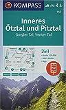 Inneres Ötztal und Pitztal, Gurgler Tal, Venter Tal: 3in1 Wanderkarte 1:25000 mit Aktiv Guide inklusive Karte zur offline Verwendung in der ... Langlaufen. (KOMPASS-Wanderkarten, Band 42)