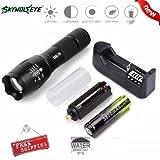 Internet Taschenlampe 4000Lumen 5Modi G700LED Zoom XM-L T6x 800militärische Qualität, Fahrrad-Licht + 186503000mAh Akku wiederaufladbar + Ladegerät + unterstützt Batterien AAA + Fahrrad-Clip