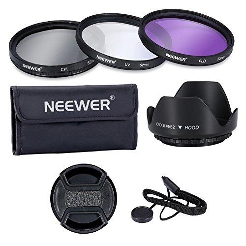 Neewer® Professionelle 52mm Objektiv-Filter Kit von Zubehör für Canon EOS 400d/XTi; 450d/XSi; 1000d/XS; 500D/T1i; 550d/T2i; 600d/T3i; D 650/T4i; D 700/T5i; 100d; 1100d; Nikon Sony Samsung Fujifilm Pentax und andere Objektive - Nikon Kamera 700 D