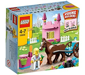 LEGO 10656 - Bricks - My First Lego Princess 10656 (Inside the buildable pink castle, the beautiful princess grooms and feeds her favorite horse… )
