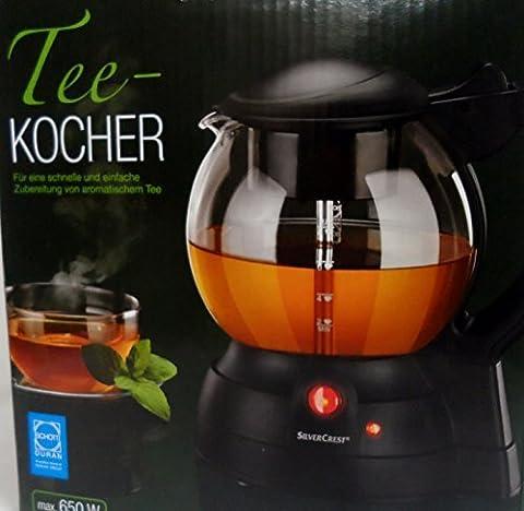 SilverCrest Elektrischer Teekocher max 650 Watt (für bis zu 8 Tassen Tee)