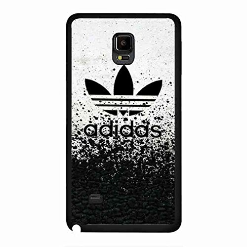 Adidas, Adidas Hülle Case Cover für Samsung Galaxy Note 4, Schwarz Adidas Logo Handy Haut (Galaxy Note 4 Louis Vuitton)