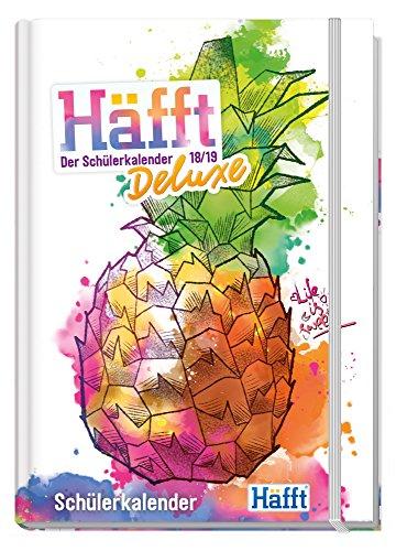 Häfft Deluxe A5 2018/2019 - Der Schülerkalender! Fadenheftung, Hard-Cover mit Gummiband, Schüler-Tagebuch/Hausaufgabenheft/Schülerplaner