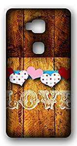 Happoz Love on Wood Mobile Phone Back Panel Printed Fancy Pouches Accessories Z1437