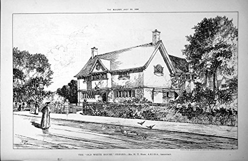 old-original-antique-victorian-print-the-white-house-oxford-mr-ht-hare-architect-street-view-1898-70