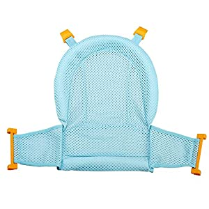 Asunflower Baby Bath Seat Support Net, Comfortable Bathtub Cradle Sling Mesh Adjustable Safety Shower Mesh for Infant Newborn Bathing