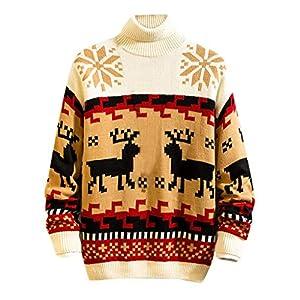 Amphia Herren-Pullover, Herren Winter Weihnachten Casual Lange Ärmel Strickpullover Tops Bluse