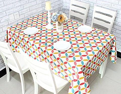 GL&G Mode Die Neue Geometrie Muster Dicker Baumwoll-Druck Tischdecke Staubdicht Antifouling Leben Dekoration Desktop Mehrzweck-Abdeckung Tuch,A,60*90CM(2pcs)