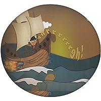 Piratenschiff 2683rund Mandala Tapisserie Hippie, Hippie-Stil, Überwurf Betten Tagesdecke, Gypsy, zum Aufhängen Indianer Boho Gypsy Baumwolle Tischdecke Strandtuch, dekorativer Wandschmuck, rund Meditation Yoga Matte, multi, 50 Inches
