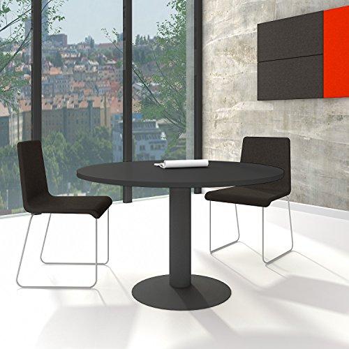 WeberBÜRO Optima runder Besprechungstisch Ø 120 cm Anthrazit Anthrazites Gestell Tisch Esstisch