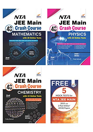 NTA JEE Main 40 Days Crash Course in Physics, Chemistry & Mathematics with FREE 5 Mock Test Book