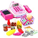 TOYMYTOY Pretend Play Cash Register Toys With Mic Tool For Kids Baby