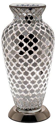 Febland Mirrored Tile Mosaic Vase Lamp, Glass