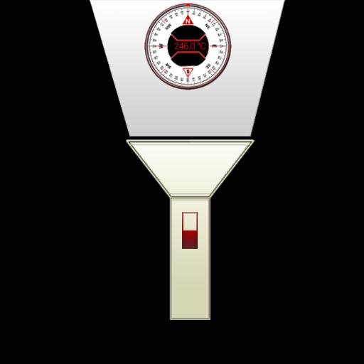 LED-Taschenlampe - Kompass