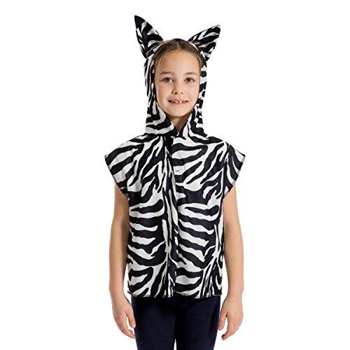 Unbekannt Charlie Crow Zebra Kostüm Für Kinder - Einheitsgröße 3-8 Jahre.