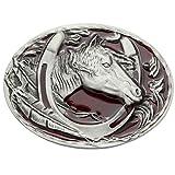 Q&Q Fashion Men Vintage Silver Native 3D Horse Shoe Eagle Feather Rodeo Cowgirl Zuni Navajo Belt Buckle - Q&Q Fashion - amazon.co.uk