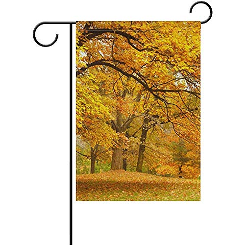 Mesllings Autumn Forest Leaves Garden Flagge Yard Banner Polyester for Home Flower Pot Outdoor Decor 12