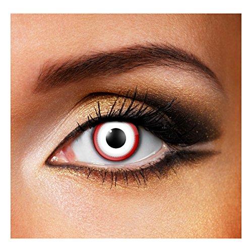 Farbige Kontaktlinsen, Jahreslinsen, ohne Stärke, für Halloweenpartys, Karnevalskostüme