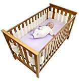 Safe Dreams Safebreathe Cot Wrap 4-sided, Maximum Airflow Hypoallergenic Breathable Cot Bumper in Ivory