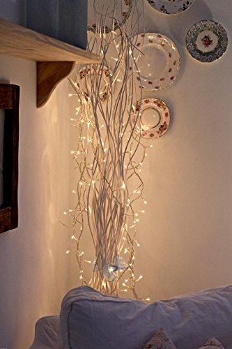 40LED Lichterkette Weihnachten Haloween Hochzeit Party Lichter 4m warm weiß & batteriebetrieben