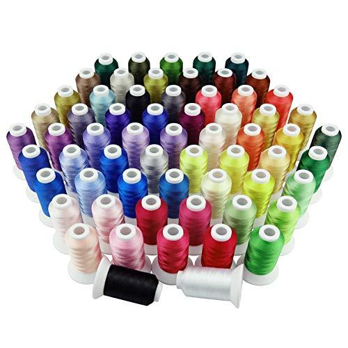 Simthread 63 Farben Polyester Maschinen Stickgarn -