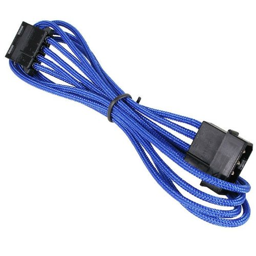 BitFenix Molex - Cable alargador ATX (longitud de 45cm), color azul y negro