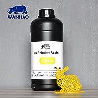 Wanhao 22347Impresora 3d UV Resin, 1000ml, Amarillo