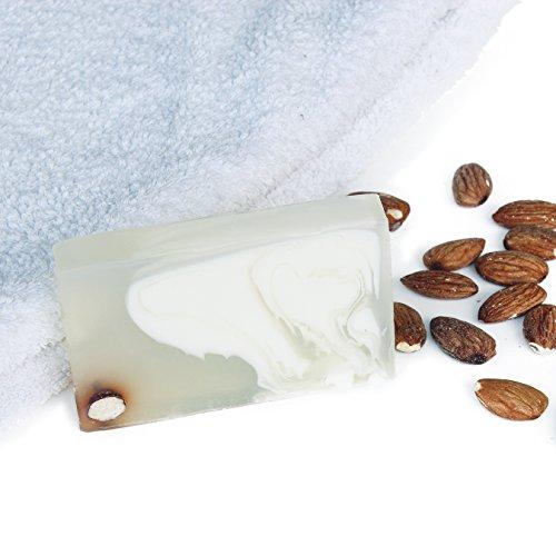 Handgemachte Naturseife von soul&sanity | Premium Handmade Soap | Ideal als Geschenk | Duschseife | Vegan | 100g (Mandel)
