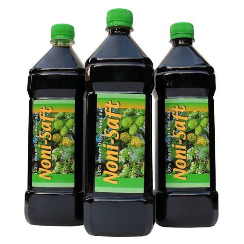 Noni 100 % Direktsaft von den Fidschi Inseln, 3 x 1000ml PET-Flasche