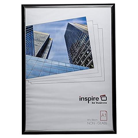 Pela1blk Premium Easy Loader Noir A184x 59cm Affiche de photo écran pêle-mêle Cadre photo non avant en