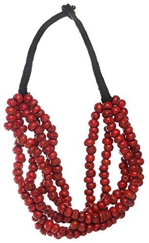 Buddhafiguren collana tibetana in corallo - collana di perle rosse
