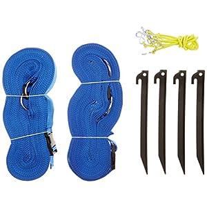 Park & Sun Sport - Striscia di delimitazione campo, colore: blu, dimensioni 2,5 cm