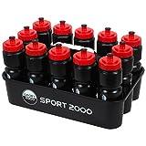 SPORT 2000 Trinkflaschencontain Größe - Schwarz (schwarz-rot)