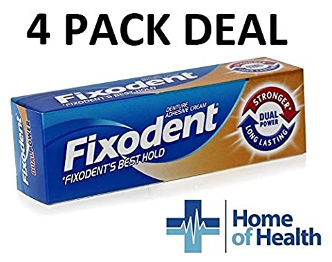Fixodent Denture Adhesive Cream Dual Power 40g **4 PACK DEAL**