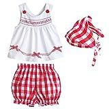 Silvercell Set-Kleinkind Baby Kinder Mädchen Pullover Shorts Schal Outfits Ärmellose Kleider (s)