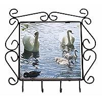 Advanta Group Swans and Ducks Wrought Iron Key Holder Hooks