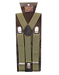 Tiekart Brown Suspenders For Men
