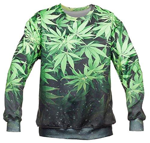 Kukubird Marihuana Design Muster Pullover