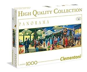 Clementoni 39247 - Puzzle de Navidad con diseño de Papá Noel Express, 1000 Piezas