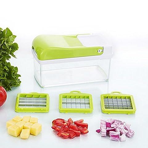 Baichang QuickPush Lebensmittelreibe: Zwiebelreibe, Gemüseschneider, Obst- und Käsereibe