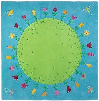 Kinderteppich grün haba  HABA 2973 - Teppich Blumenplanet: Amazon.de: Spielzeug