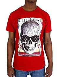 Tshirt Monsterpiece Killuminati USA Rouge