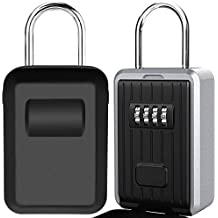 DBF Schl/üssel Aufbewahrung Lock Box ver/änderbare Code Box Lock Outdoor Innen Mini Wand montiert Edelstahl Locking Box Kombination Lock Box