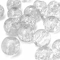 K2-accessories 400pièces 4mm Perles en Verre Craquelé–Transparent–a1415-a