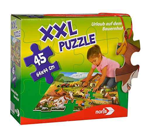 Noris 606031565 XXL Puzzle Urlaub auf dem Bauernhof, 64 x 44 cm